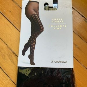 le chateau Sheer Tights. Size Med/Large
